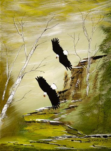 Two Bald Eagles by Francis Esquega Lake Superior Store