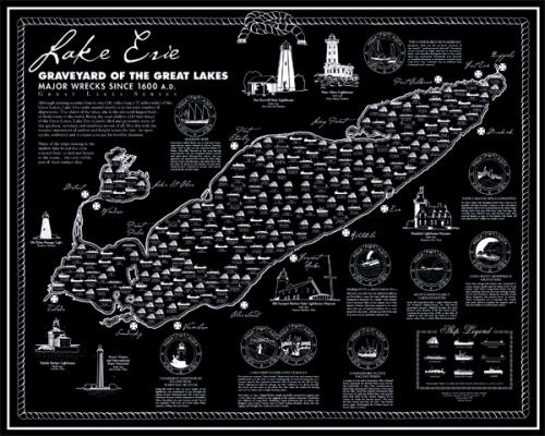 Lake Erie Shipwreck Map