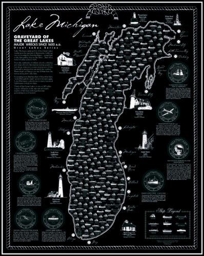Lake Michigan Shipwreck Map Lake Superior Store