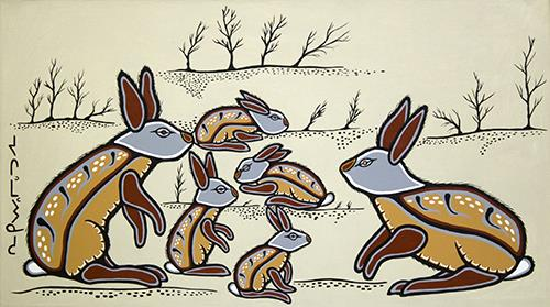 A Family of Rabbits by Eugene Morriseau