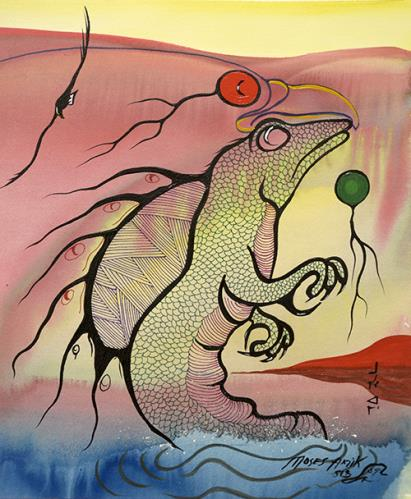 Dreams of Sea Serpent by Moses Beaver Lake Superior Art Gallery