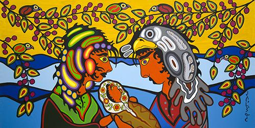 Togetherness as One Family - First Born Baby by Canadian Artist Eugene Morriseau