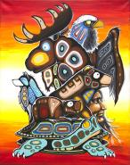 Red Sky Turtle by Dwayne Wabegijig Lake Superior Store