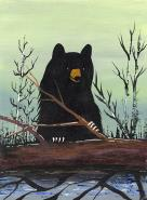 Bear with Log by Francis Esquega