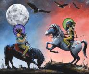 Horses by Dwayne Wabegijig Lake Superior Store