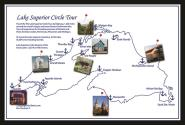 Push Pin Travel Map of Lake Superior