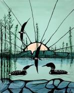 Loons by Francis Esquega Lake Superior Store