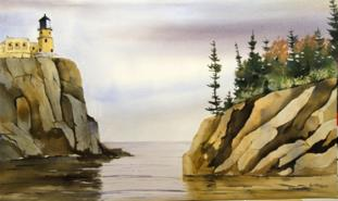 Prints on Canvas of water colour paintings Lake Superior Store