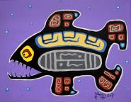 Purple Fish by Dwayne Wabegijig Lake Superior Store