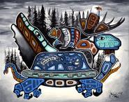 The World on it's Back by Dwayne Wabegijig Lake Superior Store
