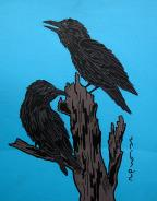 Ravens by Canadian Artist Eugene Morriseau