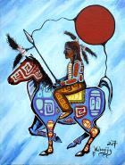 Warrior Rider by Dwayne Wabegijig Lake Superior Store