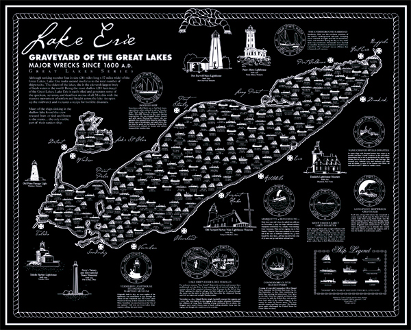 Shipwreck Map Lake Erie